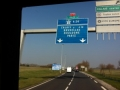 Leaving Calais and the channel tunnel